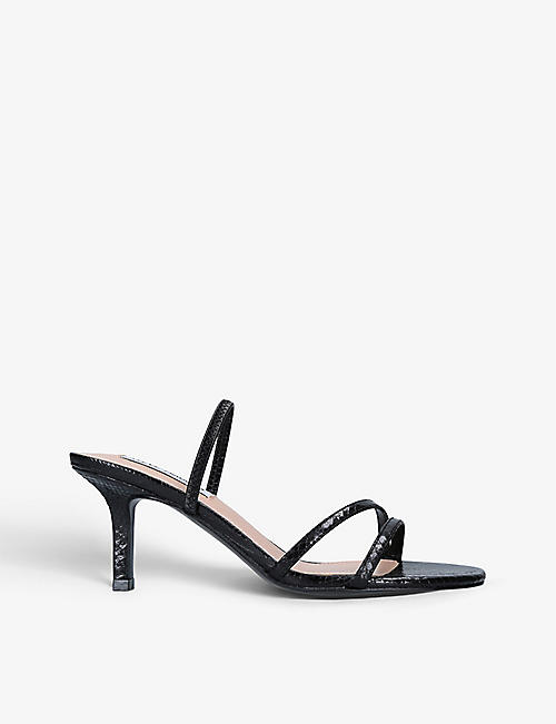 STEVE MADDEN: Loft snakeskin-print faux-leather sandals