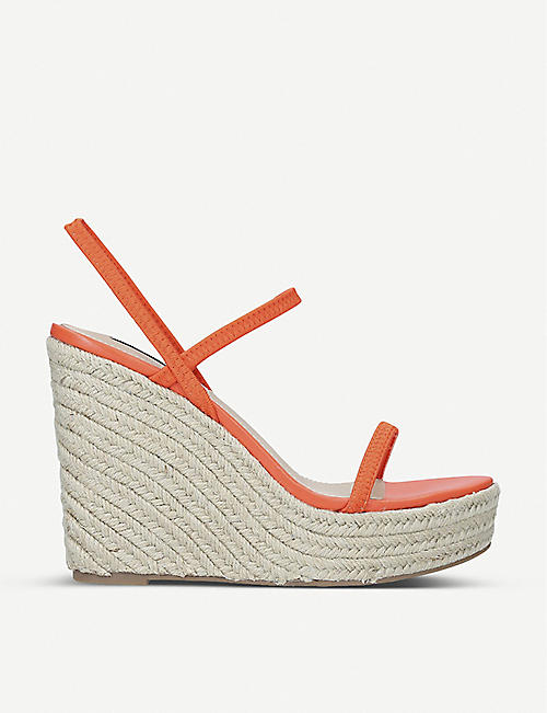 STEVE MADDEN: Skylight woven wedge sandals