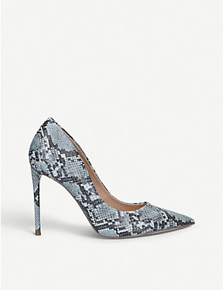 STEVE MADDEN: Vala faux-leather court shoes