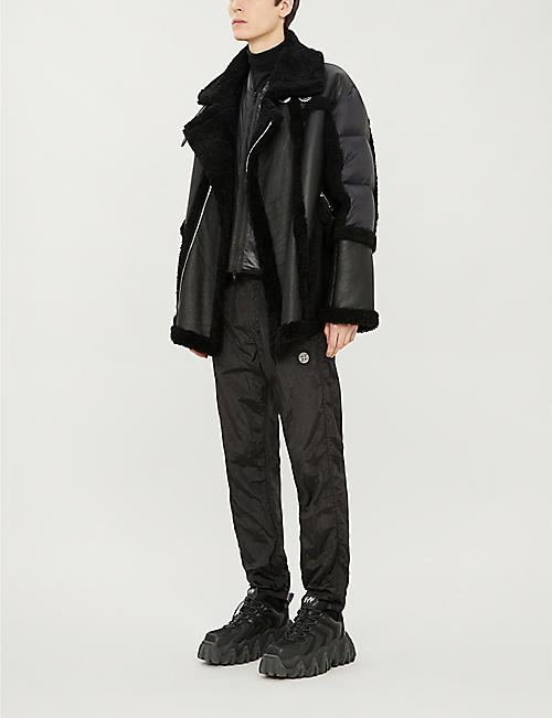 MAURICE BENISTI Shearling and shell jacket