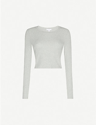 BEYOND YOGA: Keep In Line ribbed stretch cotton and modal-blend top