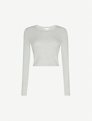 BEYOND YOGA Keep In Line ribbed stretch cotton and modal-blend top