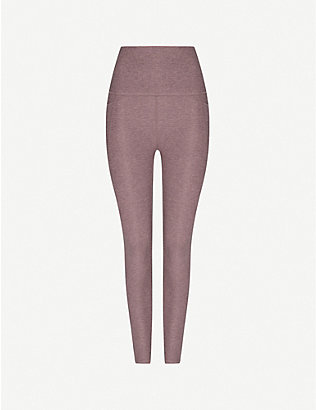 BEYOND YOGA: High-rise stretch-jersey leggings