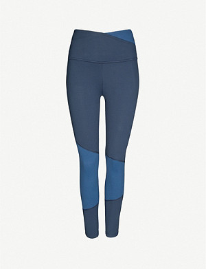 BEYOND YOGA Graceland contrast-panel high-rise stretch-jersey leggings