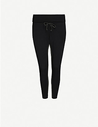 BEYOND YOGA: Swear high-rise stretch-jersey jogging bottoms