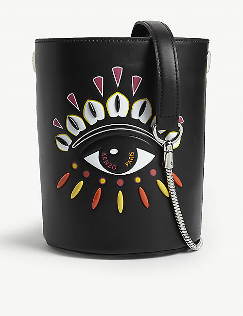KENZO Evil eye leather bucket bag