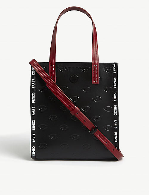 KENZO Embossed eyes leather tote