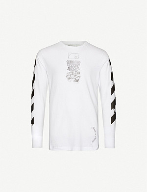 OFF-WHITE C/O VIRGIL ABLOH Graphic-print cotton-jersey top