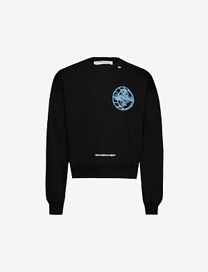 OFF-WHITE C/O VIRGIL ABLOH Logo-print cotton-jersey sweatshirt