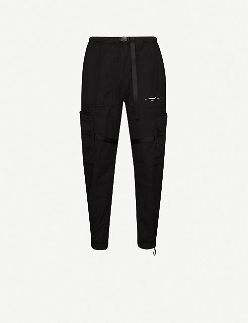 OFF-WHITE C/O VIRGIL ABLOH Parachute cotton-blend cargo trousers