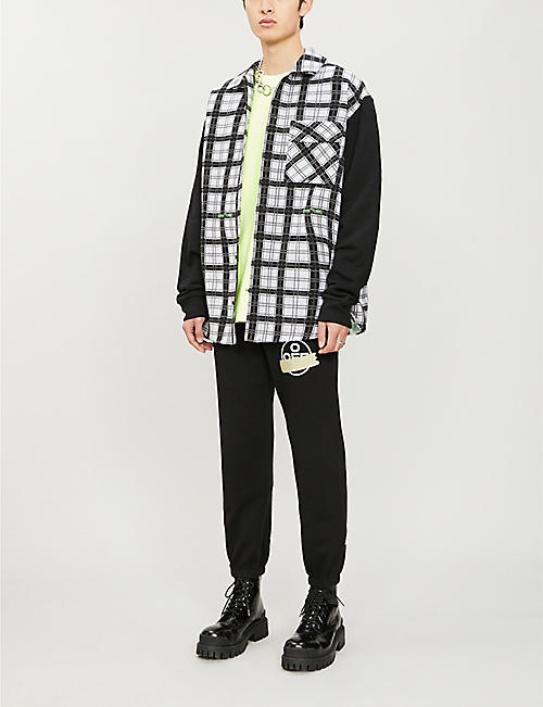 OFF-WHITE C/O VIRGIL ABLOH Logo-print cotton-jersey jogging bottoms