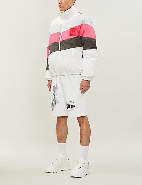 OFF-WHITE C/O VIRGIL ABLOH Logo-print cotton-jersey shorts