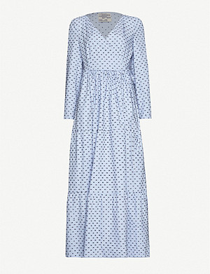 BAUM UND PFERDGARTEN Aymeline cotton maxi wrap dress