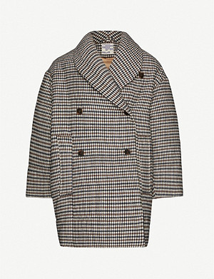 BAUM UND PFERDGARTEN Diri checked padded knitted coat