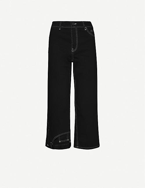MONSE: Upside Down cropped high-rise jeans