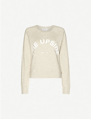 THE UPSIDE: Horseshoe logo cotton-jersey sweatshirt