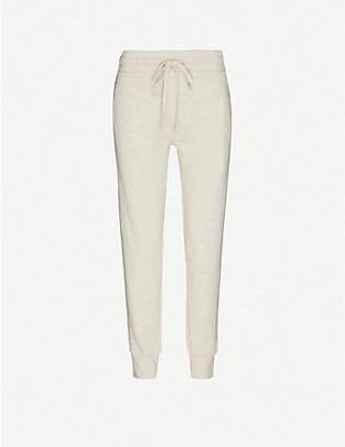 THE UPSIDE: Long Island cotton-jersey jogging bottoms