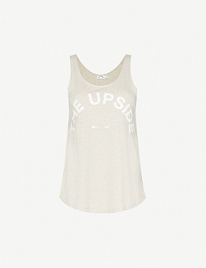 THE UPSIDE Issy logo-print cotton-jersey vest top