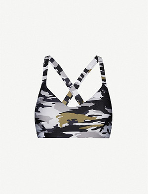 THE UPSIDE Sophie camouflage-print stretch-jersey bra