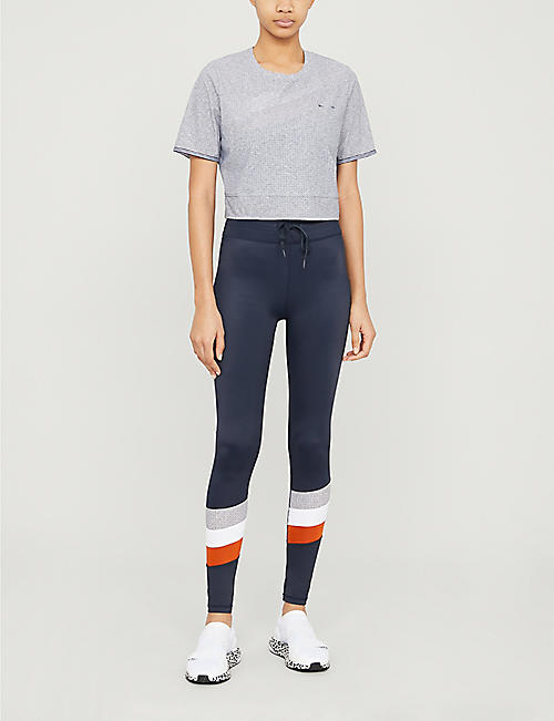 THE UPSIDE Whitney cropped stretch-jersey top