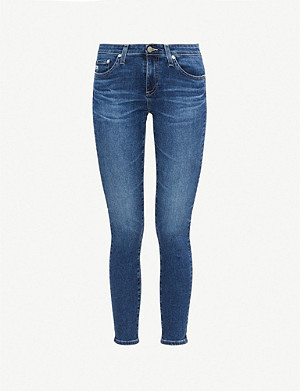 AG The Legging Ankle skinny high-rise jeans