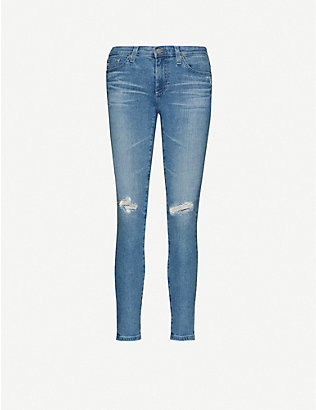 AG: The Legging Ankle skinny high-rise jeans