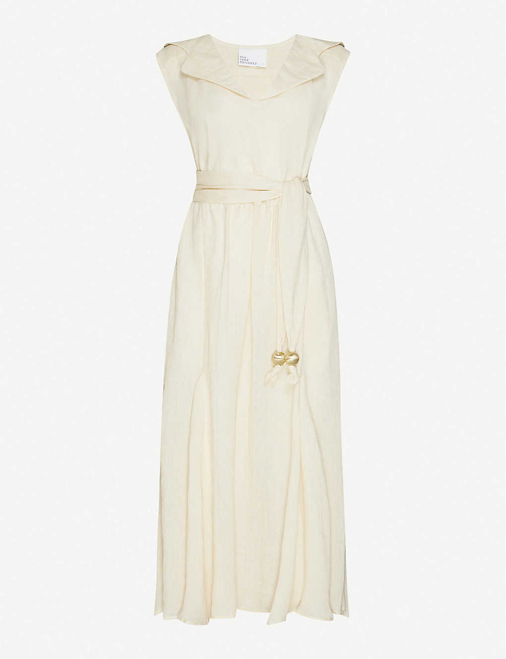 LISA MARIE FERNANDEZ: Marguerite tie-belt linen maxi dress