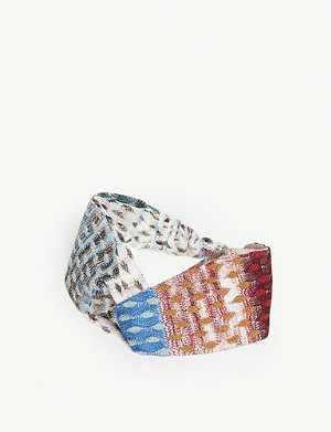MISSONI Ombre crochet-knit headband