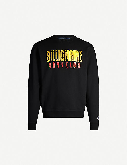 BILLIONAIRE BOYS CLUB Glitter brand-print cotton-jersey sweatshirt