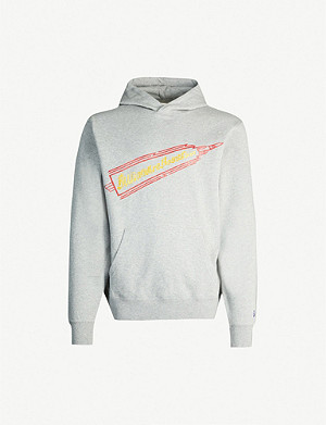 BILLIONAIRE BOYS CLUB Glitter-print cotton-jersey drawstring hoody