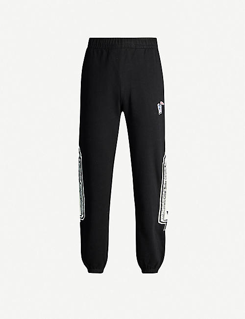 BILLIONAIRE BOYS CLUB: Logo-print cotton-jersey jogging bottoms