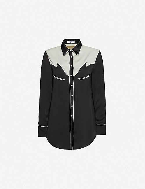 PACO RABANNE Regular-fit satin shirt
