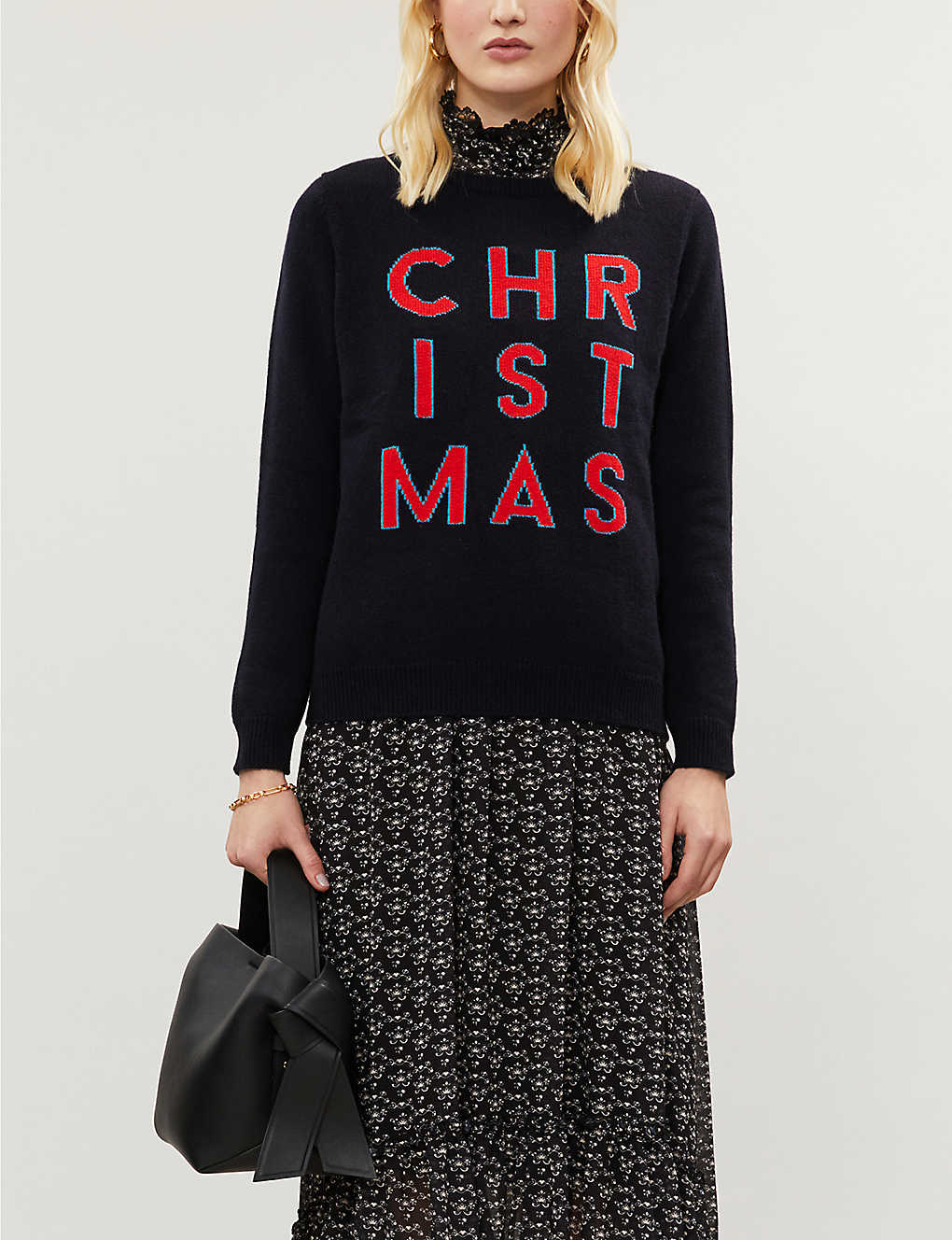CHINTI AND PARKER: Christmas wool and cashmere-blend jumper