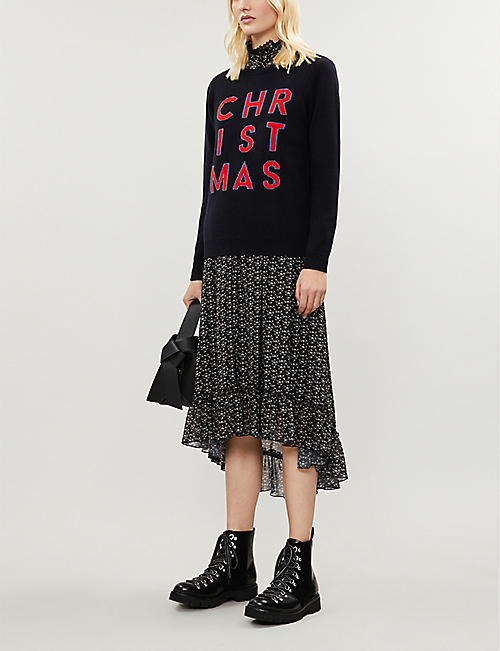 CHINTI AND PARKER Christmas wool and cashmere-blend jumper