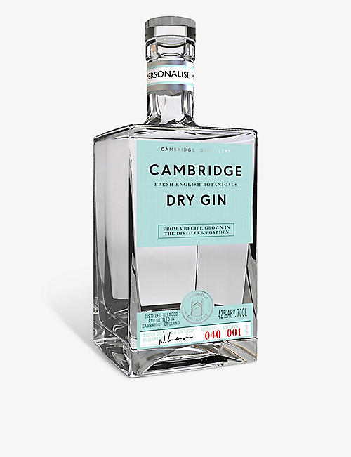 CAMBRIDGE GIN: Personalised Cambridge Dry Gin 700ml