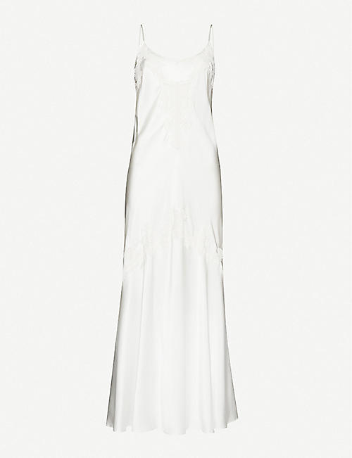 NK IMODE: Penelope satin-silk gown
