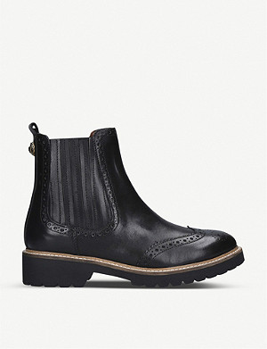 KURT GEIGER LONDON Reina brogue leather Chelsea boots