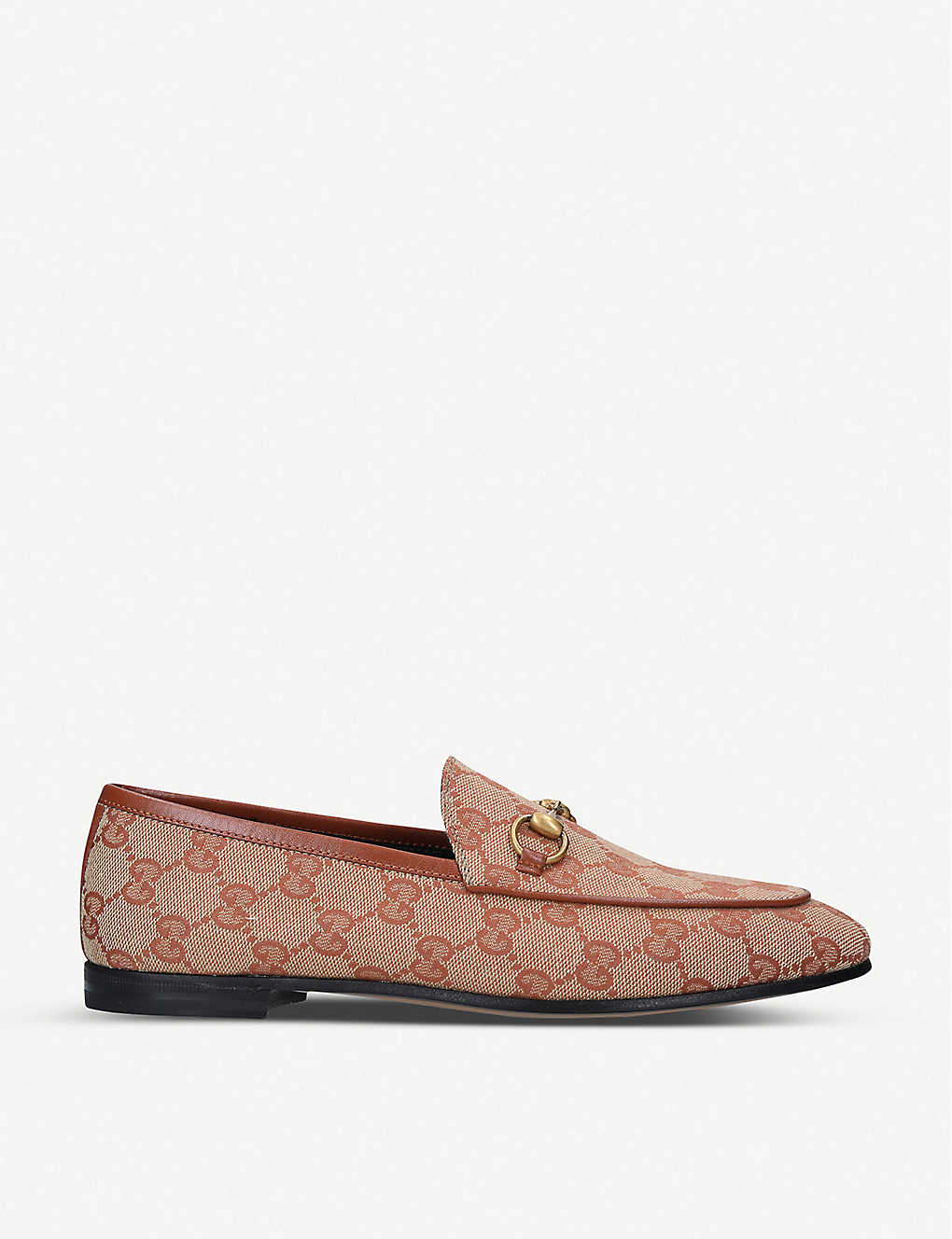 GUCCI: Jordaan GG canvas loafers