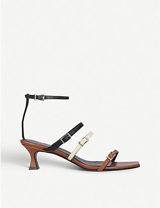 MANU ATELIER: Naomi leather heeled sandals