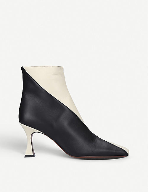 MANU ATELIER: Duck leather ankle boots