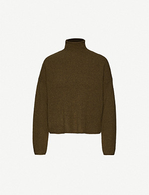 WHISTLES Relaxed-fit turtleneck wool jumper