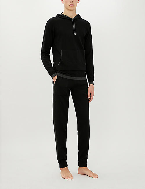 ZIMMERLI Cotton and cashmere-blend jogging bottoms