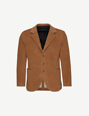THE INOUE BROTHERS Single-breasted brushed-texture alpaca blazer