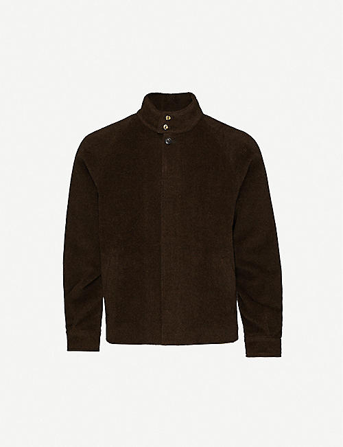 THE INOUE BROTHERS Funnel-neck brushed slim-fit alpaca jacket