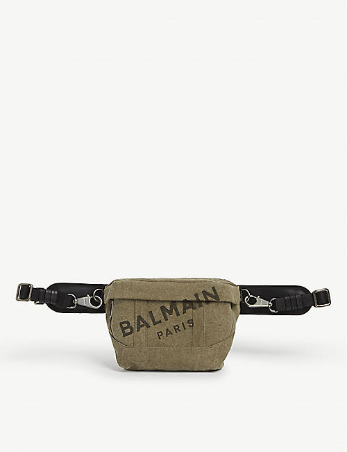 BALMAIN Canvas logo belt bag