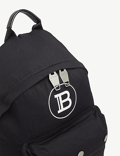 BALMAIN Nylon logo backpack