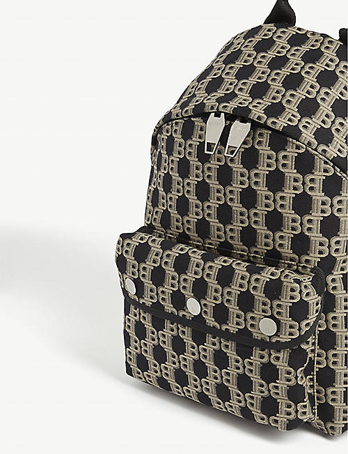 BALMAIN Jacquard monogram backpack