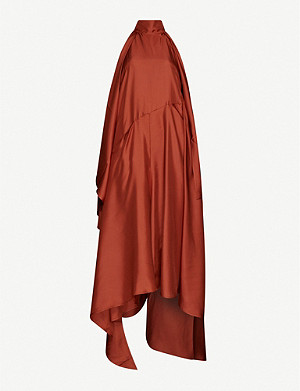 PETAR PETROV Acima draped silk-satin midi dress