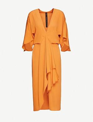 PETAR PETROV Adele V-neck silk midi dress