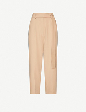 PETAR PETROV Hilary virgin wool cropped trousers